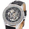 Winner F1205254 Ladies Automatic Hand-wind Movement Mechanical Wrist Watch - BLACK