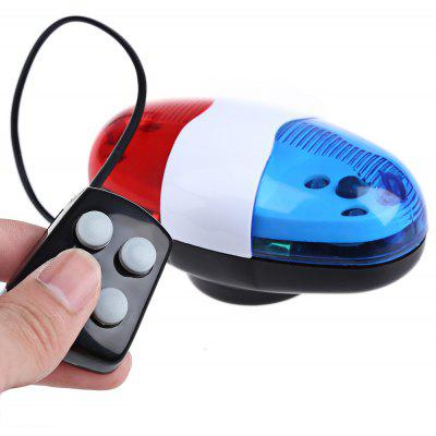 Bike 6 LEDs 4 Loud Siren Sounds Trumpet Horn Light Bell