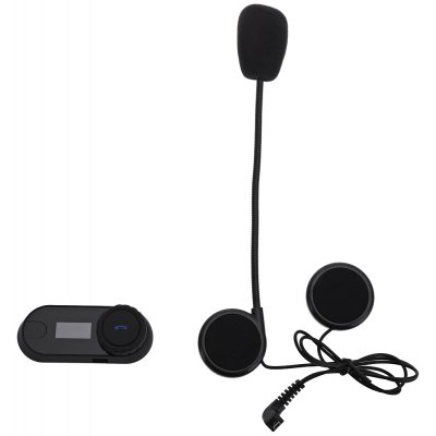 800M Waterproof Bluetooth Motorcycle Intercom with LED Screen