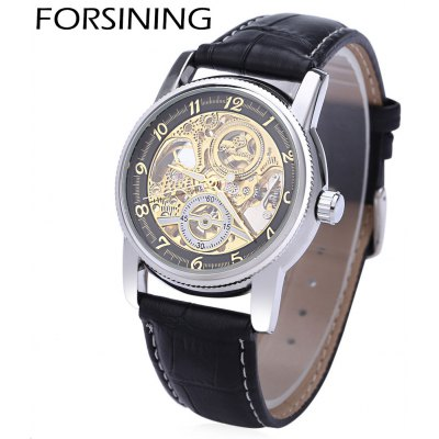 Buy FORSINING F042603 Men Automatic Mechanical Watch, BLACK AND GOLDEN, Watches & Jewelry, Men's Watches for $13.84 in GearBest store