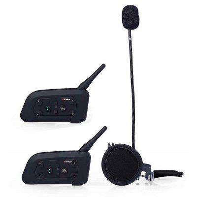 2pcs V6 - 1200M Motorcycle Helmet Bluetooth V3.0 Intercom