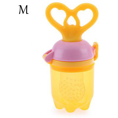Babies Fresh Food Milk Nibbler Feeding Push Type Tool with Chew Pacifier