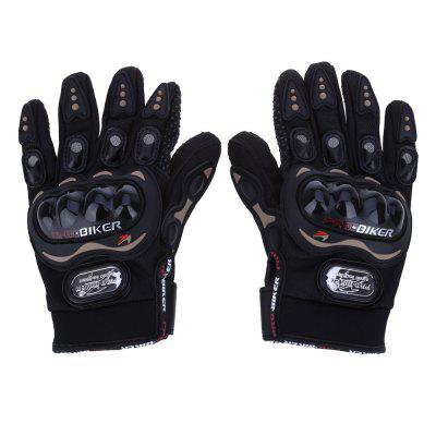 Paired Full Finger Motorcycle Gloves