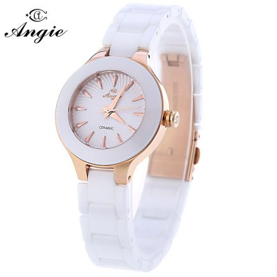 Angie ST7175L Macaroon Series Female Ceramic Quartz Watch