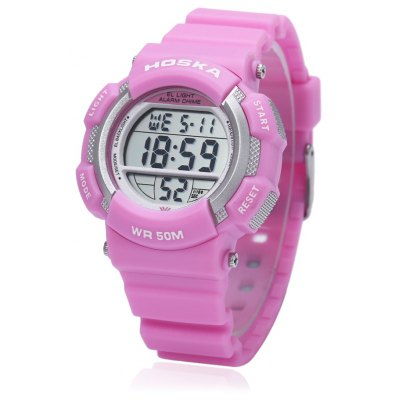 HOSKA H007S Multifunctional LED Digital Children Sport Watch