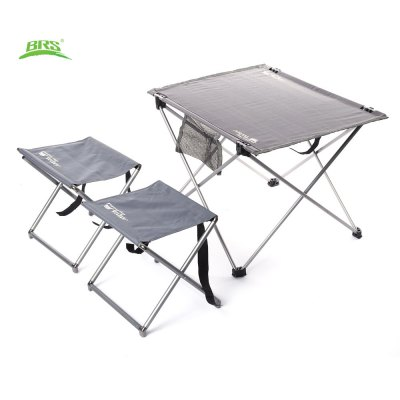 BRS - T03 3pcs / Set Portable Outdoor Folding Table Stools