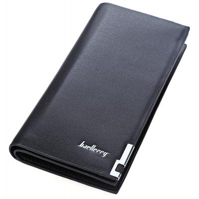 Solid Color Vertical Clutch Portable Wallet Card Holder for Men