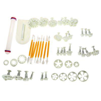 Cake Decorating Fondant Icing Plunger Cutters Mold Tools