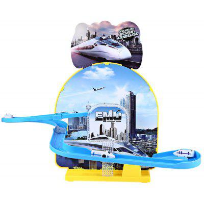 Kids Electric Rail Car Race Set Toy