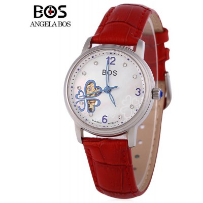 Angela Bos 9003 Mulheres Automatic Wind Mechanical Watch