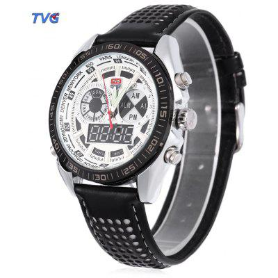 TVG 568 Dual Movt Digital Quartz Male Military Watch