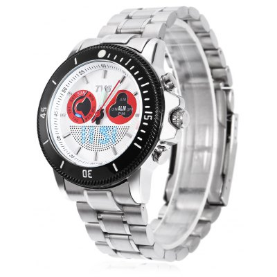 TVG 469 Dual Movt LED Digital Quartz Men Watch