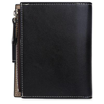 Фото Baellerry  Men Solid Color Hardware Slice Letter Zipper Hasp Short Vertical Wallet. Купить в РФ