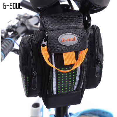 B - SOUL Bicycle Bike Dual Zipper Saddle Seat Tail Bag
