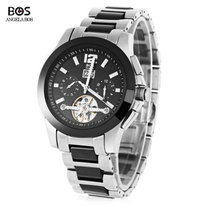 Angela Bos 9001 Men Automatic Wind Mechanical Watch