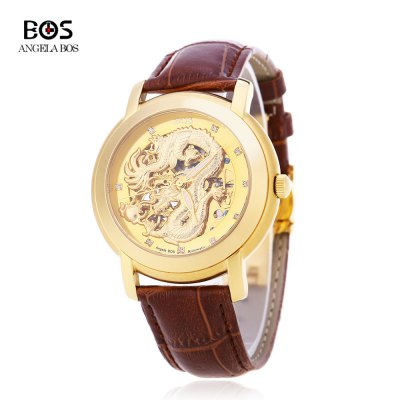 Angela Bos 9007G Men Automatic Wind Mechanical Watch