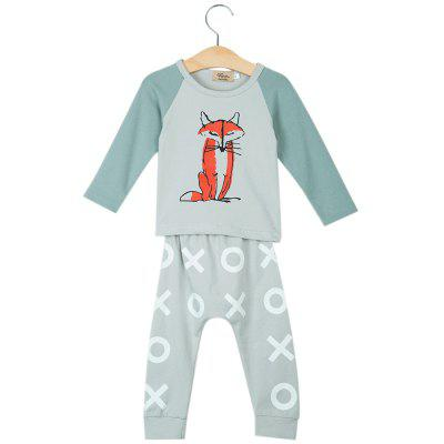 2pcs Babies Long Sleeve Round Collar Fox Top Pattern Printed Pants Clothing Set with Hatbaby clothing sets<br>2pcs Babies Long Sleeve Round Collar Fox Top Pattern Printed Pants Clothing Set with Hat<br><br>Closure Type: Pullover<br>Collar: Round Neck<br>Decoration: Pattern<br>Fabric Type: Broadcloth<br>Gender: Unisex<br>Material: Cotton<br>Package Contents: 1 x Top, 1 x Pants<br>Season: Autumn<br>Sleeve Length: Full<br>Sleeve Style: Regular<br>Style: Leisure<br>Thickness: General<br>Weight: 0.189kg