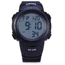 Skmei 1068 LED Digital Military Watch Water Resistant Alarm Day Date Stopwatch for Sports
