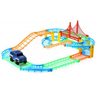 Children DIY Multi-track Rail Car Toy