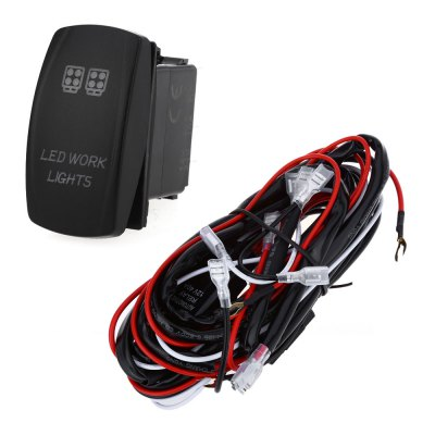 Relay Wiring Harness Kit LED Light Bar Laser Rocker Switch