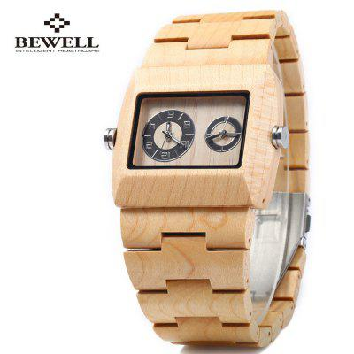 BEWELL ZS - W021C Wooden Male Quartz Watch