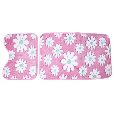 Buy PINK Coral Fleece Floor Bath Mats Set for $11.43 in GearBest store