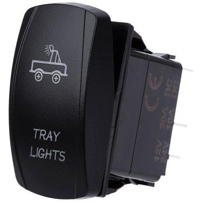 5 Pin Car Van Marine LED Illuminated Toggle Switch