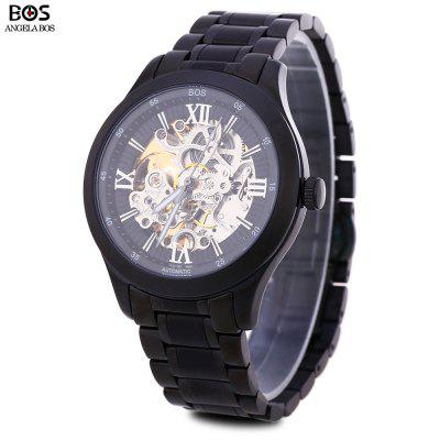 Angela Bos 9008G Male Automatic Wind Mechanical Watch
