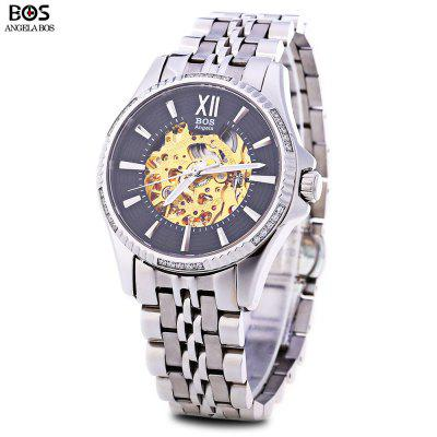Angela Bos 9010G Men Automatic Wind Mechanical Watch