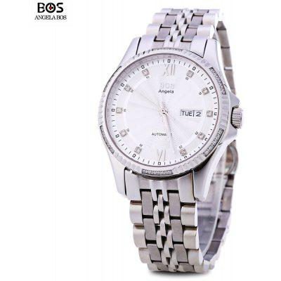 Angela Bos 9012G Men Automatic Wind Mechanical Watch
