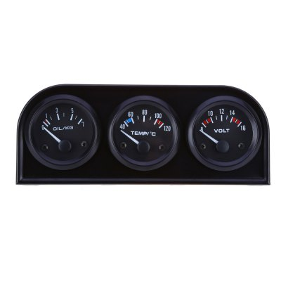 B734 52MM 3 in 1 Car Meter Auto Gauge