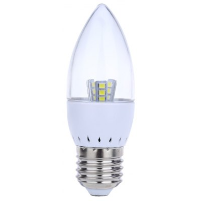 Buy COOL WHITE LIGHT E27 Dimmable 5W SMD 2835 LED Candle Bulb for $2.31 in GearBest store