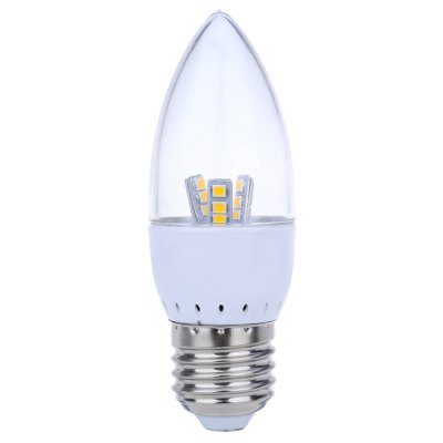 Buy WARM WHITE LIGHT E27 Dimmable 5W SMD 2835 LED Candle Bulb for $2.31 in GearBest store