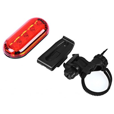 Bike Bicycle 5 LEDs 3 Modes Rear Safety Light Tail Lamp