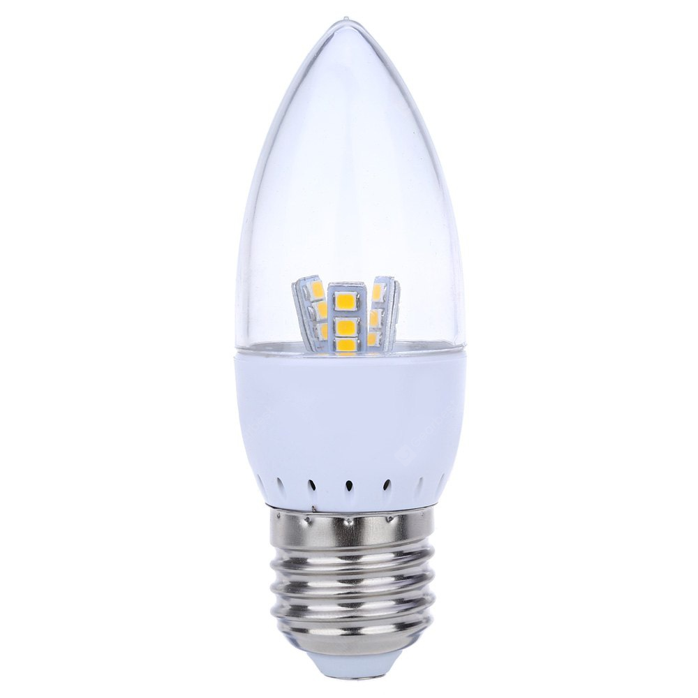 WARM WHITE LIGHT E27 Dimmable 5W SMD 2835 LED Candle Bulb