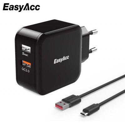 EasyAcc 11TR2U48A1Q QC 2.0 Portable Travel Charger Adapter