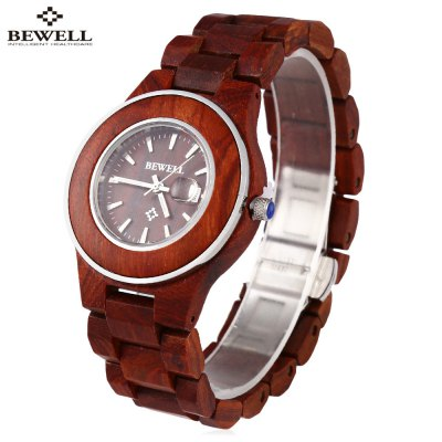 BEWELL ZS - W100AL Female Wooden Quartz Watch