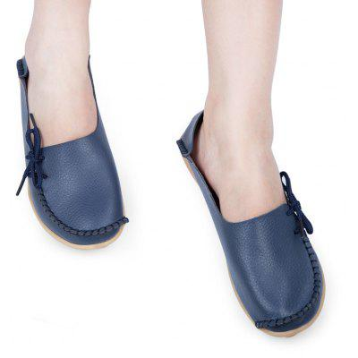 Casual Genuine Leather Slip On Skip Resistance Flat Shoes for Women