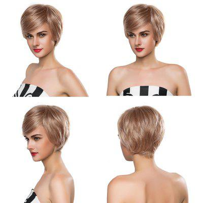 Short Straight Human Hair Wig