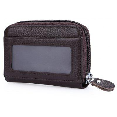 Guapabien Organ Leather Zipper Card Wallet