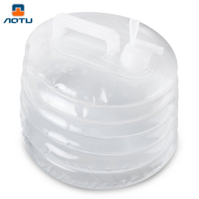 Aotu 10L Outdoor Foldable Drinking Handle Carry Water Bag