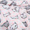 Gauze Material Newborn Babies Hold Swaddling Blankets Bath Towel - PINK DOT CAT PATTERN