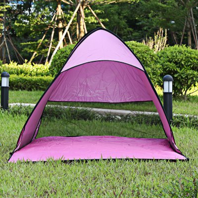 Buy PINK Outdoor Automatic Pop Up Instant Quick Cabana Beach Tent for $19.28 in GearBest store