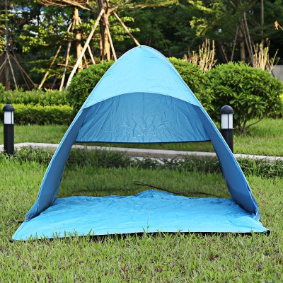 Buy BLUE Outdoor Automatic Pop Up Instant Quick Cabana Beach Tent for $21.70 in GearBest store