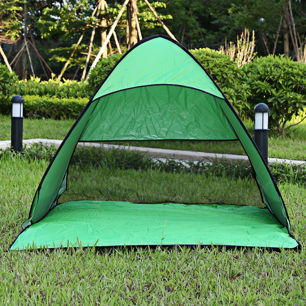 GREEN Outdoor Automatic Pop Up Instant Quick Cabana Beach Tent