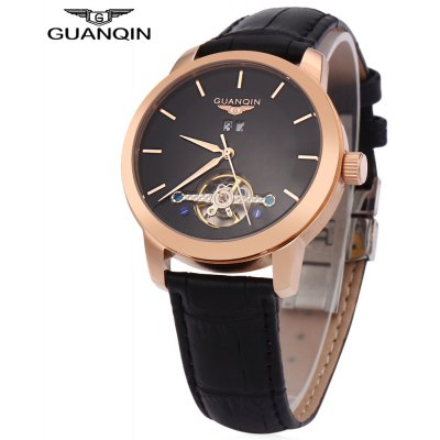 GUANQIN GJ16029 Men Tourbillon Auto Mechanical Watch