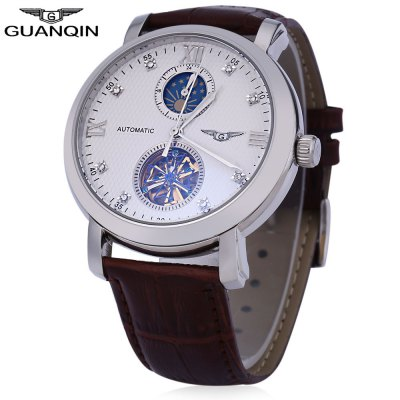 GUANQIN GJ16019 Men Tourbillon Auto Mechanical Watch