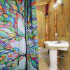 Polyester Shower Curtain with 12 Plastic Hooks - COLORMIX