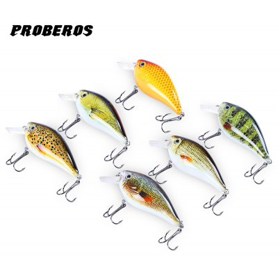 Proberos 6pcs Fishing Crankbait Tackle Hook Lure Bait