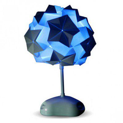 3 LEDs Colorful DIY Paper Folding Table Lamp